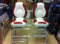 Custom Aluminum Captain Chairs.