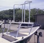 Custom Aluminum Front Deck Fishing Platform.